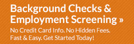 Background Checks & Employment Screening
